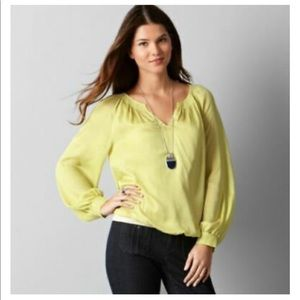 LOFT | Yellow Polka Dot Blouse